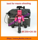 Charming Color!! mini table professional tripod M-255+CK-30 best for macro shooting