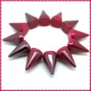 2012 New Fashion Red Frost One Row Punk Style Spike Hedgehog Rivet Bracelet, Hot Sale Stretch Adjustable Rivet Spike Bracelet