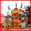 Rotating carnival carriage ride for amusement park equipment