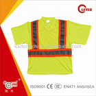 Men's High Visibility Reflective Safety T-shirt, Short Sleeves T Shirt