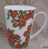 Fine bone china decal ceramic mug with flower design