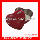 heart shape gifts or cosmetic metal tin box