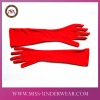 women's hot long satin red glove for dancing and party