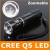 3W CREE Q5 Zoomable Led Flashlight / Torch / Bicycle Light