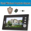 photo recording wireless peephole camera with 7 inch screen, doorbell