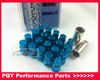 Length:50MM M12*1.25 16pcsRAYS lug nuts + 4pcs locking nuts + 1 security key per set,Bule or Black or Red wheel lug nuts