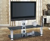 2012 Cheap Aluminum frame glass tv stand with bracket