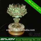 Buddhist supplies lotus lamp for religious activities and chant scriptures