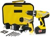 Tool bag packing 18V Li-ion drill and 3.6V Li-ion screwdriver set
