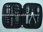 OEM manufacturer hand tool kit 23PCS TOOL SET,promotion gift tools plier sockets tester tool TIN box