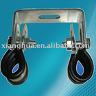 zinc plated rubber lined pipe clamps with screws