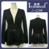 leather slipcing lady blouse 2012