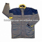 Waterproof Men's Workwear with Nylon Taslon Oxford Outshell and Polyester Taffeta Lining
