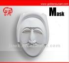 DIY white paper mask