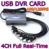 4CH Full Real Time USB CCTV Video Capture Card USB DVR Box For Windows XP/Vista/7 32bit /64bit PC/Laptop
