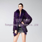 BG6396 Genuine Knitted Mink Fur Coat with Raccoon Dog Fur Trim OEM Wholesale/Retail