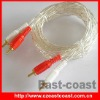 White transparent 2Phono Cable