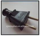 Black electronic plug