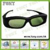 3d active shutter video glasses for tv