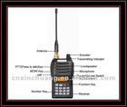 Xinchuang cute LCD walkie talkie TR-N7 with Time-out Timer function