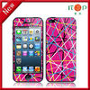 Front back screen stripes sticker screen protector for iphone5