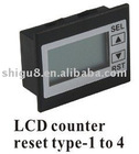 LCD counter reset type 1 to 4