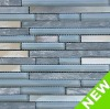 Powder Blue Frost Glass Stone Mosaic Interior Decorative Tiles