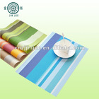 2012 popular stripe pvc plain woven place mats