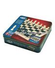 Chess game metal box