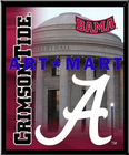 "Alabama Crimson Tide 8""x10"" Mylar Framed Art Building Design Mylar Framed Photo Logo Wall Hanging AMM001"