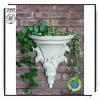 15.5 Inches Gray Polyresin Decorative wall planter