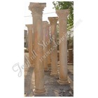 Red Marble Roman Stone Pillar