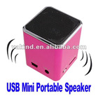 Portable Mini Sound Music MP3 Player Speaker With Micro SD TF Card USB Pink color
