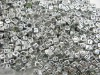 6mm Silver Cube Alphabet Letter Beads