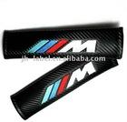 Custom M style carbon fiber car seat belt shoulder pad for BMW,safe shipping