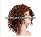 Hot selling 10'' short curly full lace wig, accept paypal