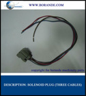 Solenoid valve plug (three cables)