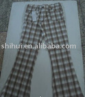 Cotton yarn dyed checker pants