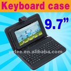 """USB Keyboard & Leather Case Leather Keyboard for 9.7"""" Tablet MID ePad PC"""