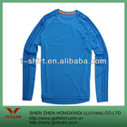 100 polyester blue long sleeves golf polo shirt