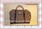 (50 years factory) 2012 stylish men's westen style old classical leather and cavas travel bag