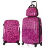 red Leopard printing luggage