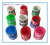 Debossed Fill Colour Logo Silicone Ring