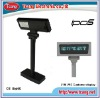Double line VFD POS customer display,customer pole display with DC power