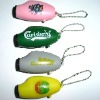 portable fashionable plastic led projector key chain torch