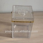 plastic acrylic liquor vodka bottle box