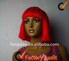 full lace short Bob red wig with fringe