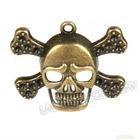 Cheap Antique Bronze Skull Charms Wholesale 142342