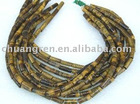 High grade tube shape tiger eye stone loose strands