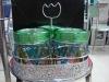 3pcs color glass storage jar canister rack set